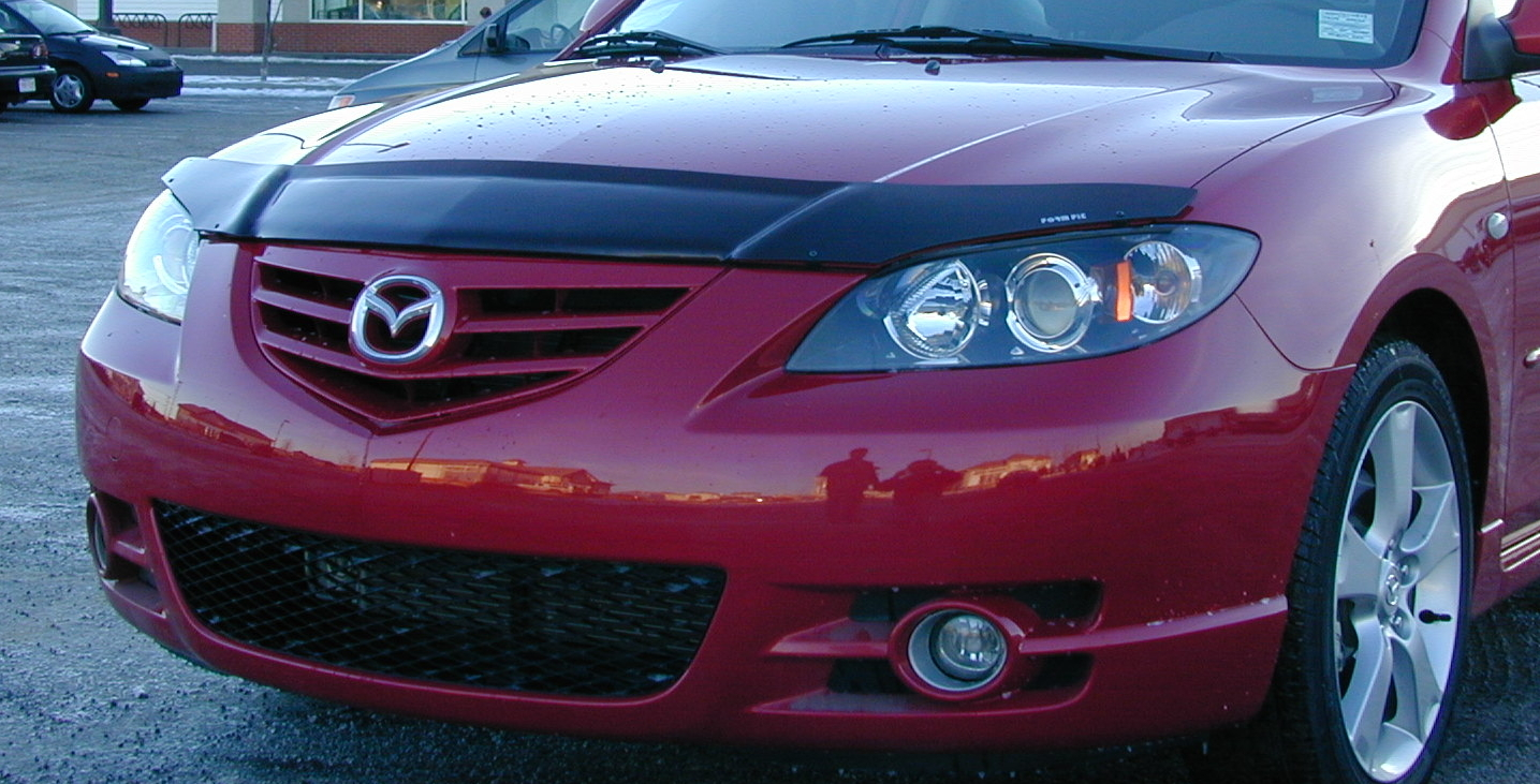 mazda 3 4 door 2004 2009 formfit hood protectors. Black Bedroom Furniture Sets. Home Design Ideas